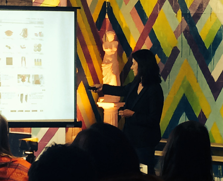 Beth Ferreira presenting